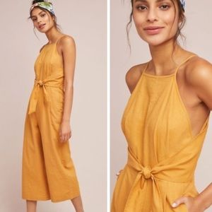 Mustard orange/Yellow Anthropologie Jumpsuit